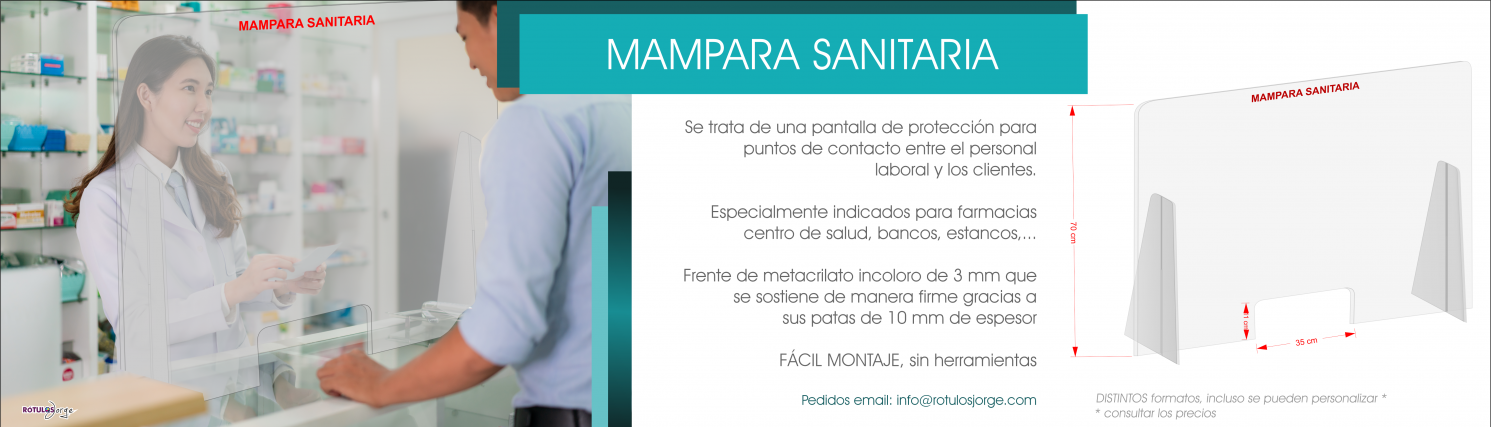 MAMPARA PROTECCION METACRILATO